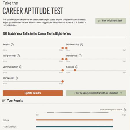 Work Samples  Career Aptitude Test
